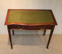 Mahogany Serpentine Front Writing Table (4 of 9)