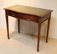 Mahogany Serpentine Front Writing Table (7 of 9)