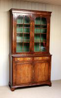 Good Quality Walnut Cabinet Bookcase (6 of 10)