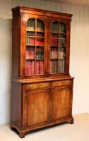 Good Quality Walnut Cabinet Bookcase (5 of 10)