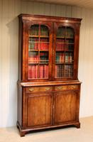 Good Quality Walnut Cabinet Bookcase (3 of 10)