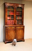 Good Quality Walnut Cabinet Bookcase (7 of 10)
