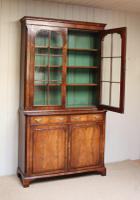 Good Quality Walnut Cabinet Bookcase (8 of 10)
