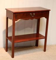 Edwardian Style Mahogany Side Table c.1930 (6 of 8)