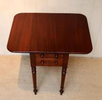 Mahogany Drop Leaf Side Table c.1850 (7 of 9)