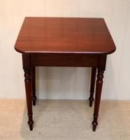Mahogany Drop Leaf Side Table c.1850 (6 of 9)