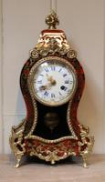Small French Tortoiseshell & Brass Inlay Mantel Clock (2 of 9)