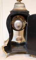 Small French Tortoiseshell & Brass Inlay Mantel Clock (9 of 9)