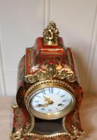 Small French Tortoiseshell & Brass Inlay Mantel Clock (7 of 9)