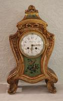Louis XVth Style Carved Giltwood Mantel Clock c.1900