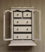 Painted Collectors Wall Cabinet, English c.1900 (3 of 8)