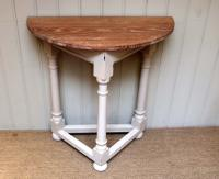 Oak Demi Lune Table c.1910