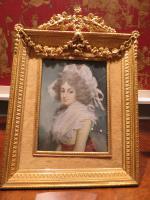 Miniature Portrait 10' High Ormolu Frame Sarah Siddons