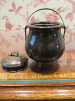 19th Century Wooden Vesta Match Holder Cauldron Shape (4 of 6)