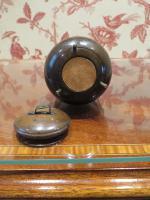 19th Century Wooden Vesta Match Holder Cauldron Shape (2 of 6)