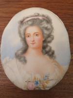 Miniature Portrait Marie-Aurore De Saxe Hand Painted