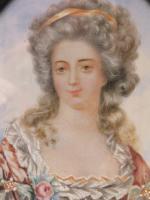 Large Miniature Portrait Princess De Lamballe