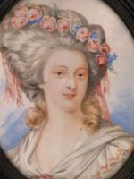 Large Miniature Portrait Madame De Montesson c.1900