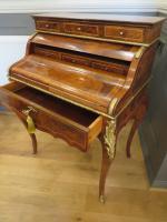 Walnut & Mahogany Bureau in the Louis XVI Manner (2 of 12)