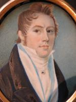 Hand Painted Miniature Portrait Young Geogian Gentleman (3 of 6)