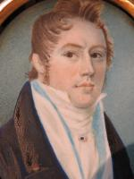 Hand Painted Miniature Portrait Young Geogian Gentleman (4 of 6)