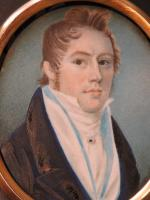 Hand Painted Miniature Portrait Young Geogian Gentleman (5 of 6)