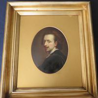 18th Century Oil on Board Portrait Anthony Van Dyck (2 of 5)