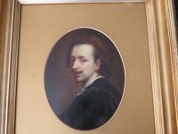 18th Century Oil on Board Portrait Anthony Van Dyck (4 of 5)