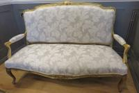 French Giltwood Sofa Restored & Upholstered c.1860