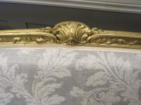 French Giltwood Sofa Restored & Upholstered c.1860 (8 of 10)