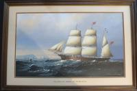Large Marine Painting by Michael Matthews Miranda Clipper Ship (6 of 6)