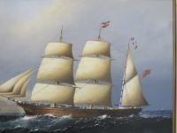 Large Marine Painting by Michael Matthews Miranda Clipper Ship (4 of 6)
