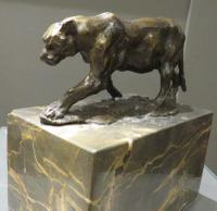 Solid Bronze Casting of a Big Cat after Fratin (2 of 5)