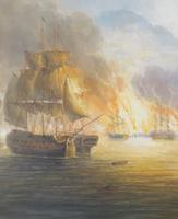 James Hardy Large Sea Battle Oil on Board (5 of 5)
