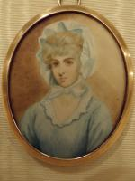Hand Painted Miniature Portrait On Ivory of Miss Saly Biddles (6 of 6)