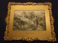 Victorian Watercolour After Birket Foster