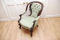 Antique Victorian Mahogany Carved Armchair on Cabriole Legs (7 of 7)