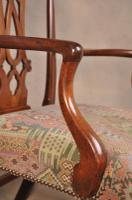 Large 18th Century Mahogany Chippendale Armchair (4 of 8)