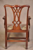 Large 18th Century Mahogany Chippendale Armchair (6 of 8)