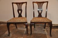 Pair of Mahogany Chippendale Side Chairs c.1770