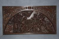Large 16th Century Oak Flemish Carved Panel