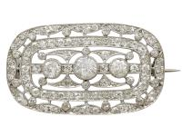 1.83ct Diamond & Platinum Brooch by Garrard c.1920