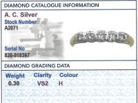 0.30ct Diamond & 14ct Yellow Gold, Five Stone Ring - Antique c.1920 (3 of 9)