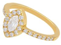 0.82ct Diamond & 18ct Yellow Gold Cluster Ring - Vintage c.1990 (3 of 9)