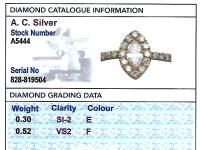 0.82ct Diamond & 18ct Yellow Gold Cluster Ring - Vintage c.1990 (9 of 9)