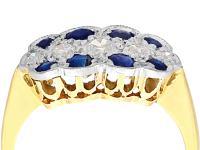 0.32ct Sapphire & 0.20 ct Diamond, 18ct Yellow Gold Ring - Antique c.1910 (2 of 8)