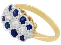 0.32ct Sapphire & 0.20 ct Diamond, 18ct Yellow Gold Ring - Antique c.1910 (3 of 8)