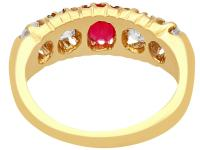 0.82ct Diamond & Synthetic Ruby, 18ct Yellow Gold Ring - Antique c.1910 (8 of 9)