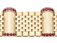 3ct Ruby & 9ct Yellow Gold Bracelet - Vintage 1959 (5 of 12)