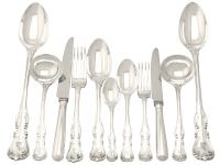 Sterling Silver Canteen of Cutlery for Twelve Persons by George Adams - Antique Victorian 1850 (15 of 15)
